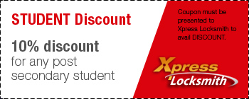 June Student Discount Coupons - Locksmith Toornto